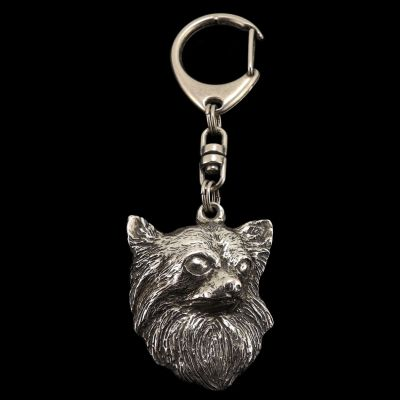 keychain keyring Chihuahua longhaired