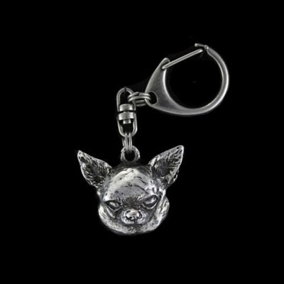 keychain keyring Chihuahua smooth haired
