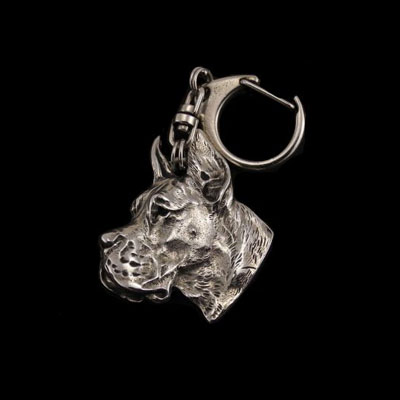 keychain keyring Great dane cropped